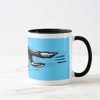Border collie dans l'action mug