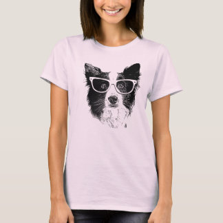 Border collie Hipster T-shirt