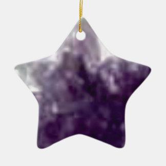 bords en verre pourpres ornement étoile en céramique