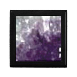 bords en verre pourpres petite boîte à bijoux carrée