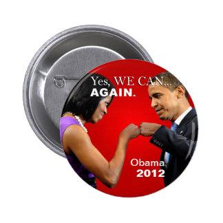 Bosse de poing d'Obama - oui nous pouvons, encore Badge Rond 5 Cm