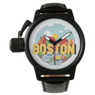 Boston comme destination montres bracelet