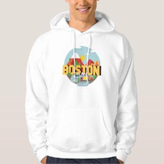 Boston comme destination veste à capuche