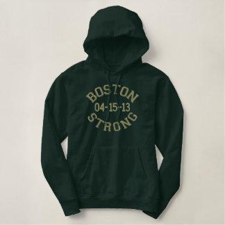 Boston fort se rappelle pull à capuche brodé