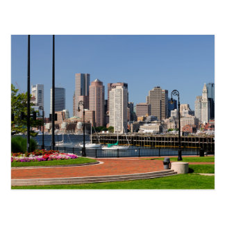 Boston le Massachusetts, port et carte postale