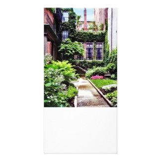 Boston mA - Jardin caché Carte Avec Photo