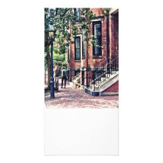 Boston mA - Marchant le chien sur la rue de Mount Photocarte Customisée