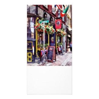 Boston mA - Restaurants sur le carré de crique Photocarte Customisée