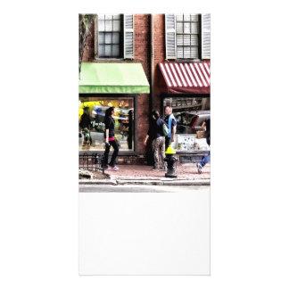 Boston mA - Rue avec le magasin de bonbons et la Photocarte