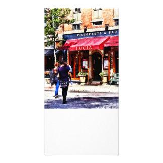 Boston mA - Rue North End de Hannovre Modèle Pour Photocarte