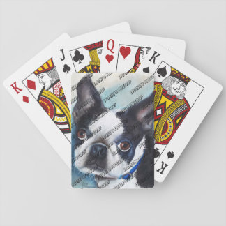 BOSTON NOIR ET BLANC TERRIER JEU DE CARTES