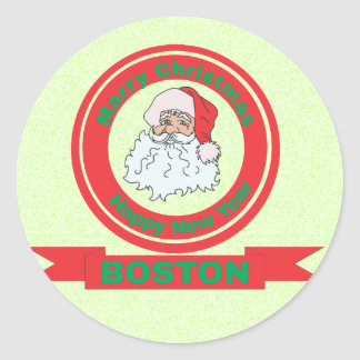 Boston Sticker Rond