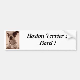 Boston Terrier à Bord! Autocollant De Voiture