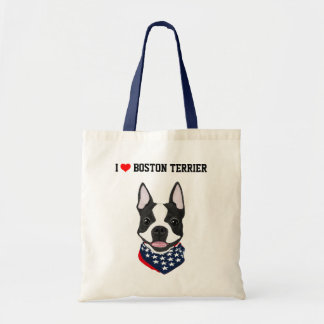 Boston Terrier a illustré le sac fourre-tout