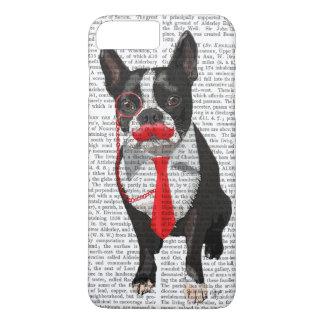 Boston Terrier avec la cravate et la moustache Coque iPhone 8 Plus/7 Plus