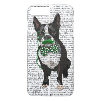 Boston Terrier avec la moustache verte et tacheté Coque iPhone 7 Plus