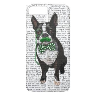 Boston Terrier avec la moustache verte et tacheté Coque iPhone 8 Plus/7 Plus