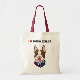 Boston Terrier (rouge/Brown) a illustré le sac