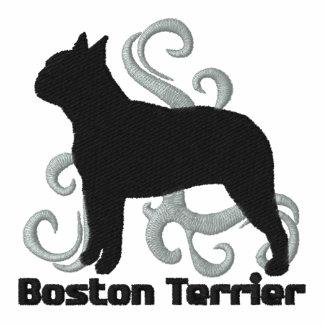 Boston tribal Terrier Polo Avec Broderie