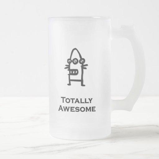 Bot de trois yeux totalement impressionnant tasse à café
