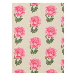 Botanique florale de nappe de rose de fleur