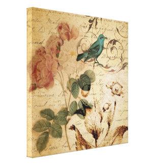 botanique français de Paris d'oiseau de victorian Toiles