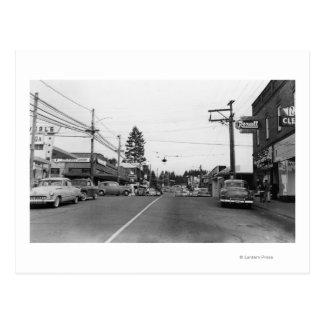 Bothell, WA - photographie de scène du centre de Carte Postale