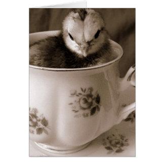 Bottes dans une tasse de thé, le jour de mère cartes de vœux