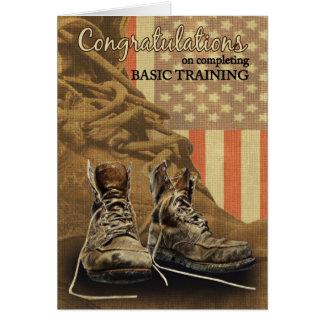 Bottes de combat de félicitations de formation de carte de vœux