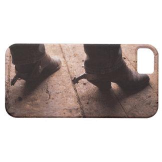 Bottes de cowboy avec des dents sur la promenade à coques Case-Mate iPhone 5