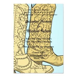 Bottes de cowboy carton d'invitation  12,7 cm x 17,78 cm