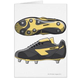 Bottes de rugby carte de vœux