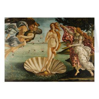 Botticelli la naissance de la carte de voeux de