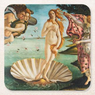 BOTTICELLI - La naissance de Vénus 1483 Dessous-de-verre Carré En Papier