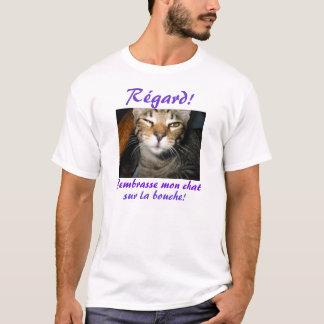 Bouche de La de sur de conversation de J'embrasse T-shirt