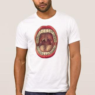 bouche dentaire vintage d'anatomie de T-shirt