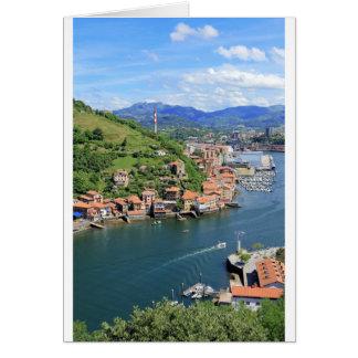 Bouche pittoresque Pasaia, pays Basque de port Carte
