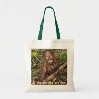 Bouche sale d'orang-outan de George Sacs En Toile