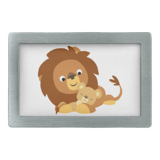 Boucle affectueuse mignonne de papa de lion de ban boucles de ceinture rectangulaires