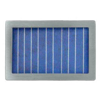 Boucle bleue et blanche de panneau de pile solaire boucles de ceinture rectangulaires