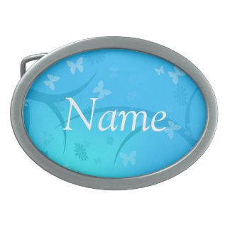 Boucle de ceinture assez bleue personnalisée de pa