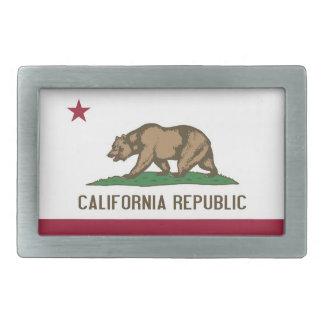 Boucle de ceinture avec le drapeau de l'état de la