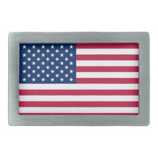 Boucle de ceinture avec le drapeau de l'état uni