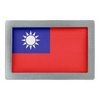 Boucle de ceinture avec le drapeau de Taïwan