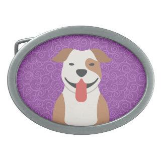 Boucle de ceinture de Terrier de pitbull