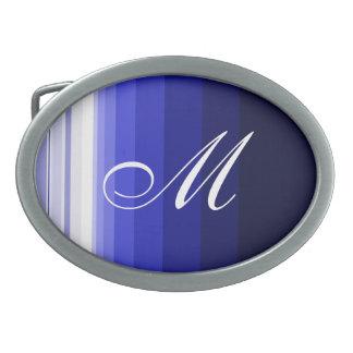 Boucle De Ceinture Ovale Bleus d'hiver
