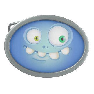 Boucle De Ceinture Ovale Bluey Muglee - visage de ceinture de cowboy