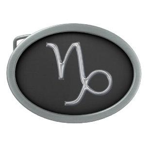6f8ff126c94 Boucle De Ceinture Ovale Couleur de Signe-Chrome de zodiaque de Capricorne