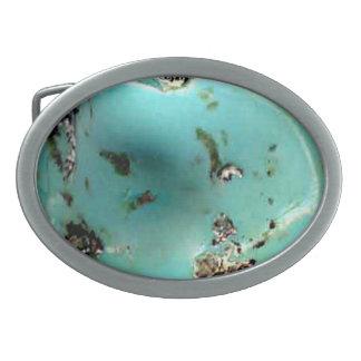 Boucle de ceinture ovale d'image de pierre gemme