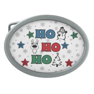 Boucle De Ceinture Ovale Ho-Ho-Ho conception de Noël